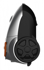 Aspirator cu sac Heinner HVC-MGRY1400-V2, 700 W, sac textil, 3 L, putere variabila, HEPA 12, tub telescopic metalic, Negru0