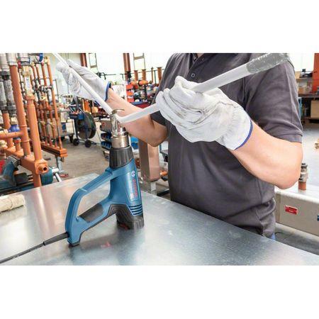 Pistol cu aer cald Bosch Professional GHG 23-66, 2300 W, 500 l/min dedbit aer maxim, 50-650°C temperatura lucru + talpa de sudura + 4 duze + geanta transport3