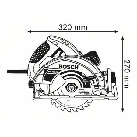 Ferastrau circular Bosch GKS 65 GCE, 1800W, 190mm1