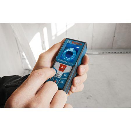 Telemetru laser cu functie de conectivitate Bosch GLM 50 C, 0.05-50m, precizie 1.5 mm/m2