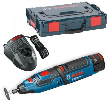 Bosch GRO 12V-35 Multifunctional rotativ cu acumulator, 12V + 2 x Acumulatori GBA 12V 2.0Ah + Incarcator rapid GAL 1230 CV + L-Boxx [0]