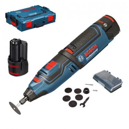 Bosch GRO 12V-35 Multifunctional rotativ cu acumulator, 12V + 2 x Acumulatori GBA 12V 2.0Ah + Incarcator rapid GAL 1230 CV + L-Boxx [1]