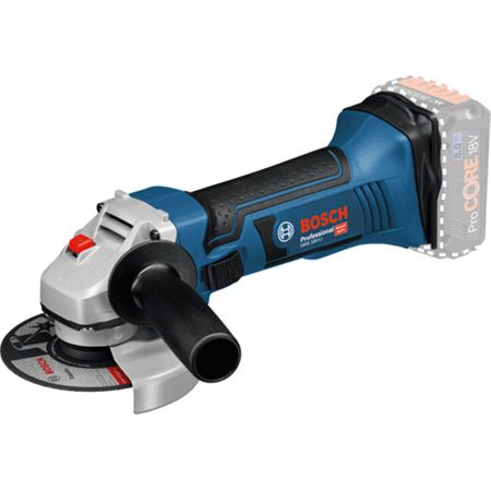 Polizor unghiular pe acumulator Bosch Professional GWS 18-125 V-LI Solo, 18 V, 10.000 c, maner suplimentar, aparatoare de protectie0