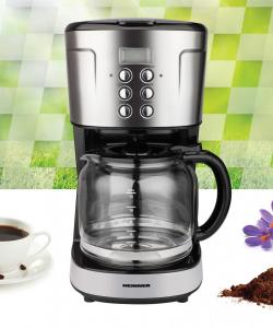 Cafetiera digitala HCM-D915BKS Heinner, 900 W, 1.5 L, timer, Negru/Inox3