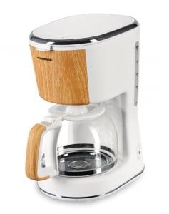 Cafetiera Heinner HCM-WH900BB, 900 W, 1.25 L, filtru detasabil, anti-picurare, oprire automata, Alb0