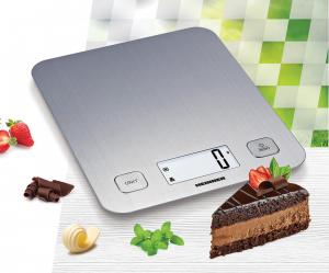 Cantar de bucatarie Heinner HKS-5IX, 5 Kg, 1 g, tara, functie cantarire lichide, display LCD, Inox1