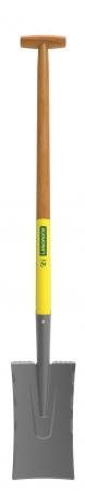 Cazma slefuita model Nord DUOPRO - 28 cm, coada din lemn, certificat PEFC 100%, capat forma T0
