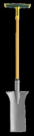 Cazma slefuita PRO de smulgere - 36 cm, coada din fibra de sticla 100%, foarte rezistenta, capat forma T [0]
