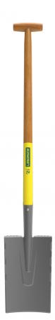 Cazma slefuita Senlis DUOPRO - 28 cm, coada din lemn, certificat PEFC 100%, capat forma T2