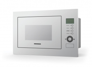Cuptor cu microunde incorporabil Heinner HMW-25BIGWH, 25 L, 900 W, Grill, Control touch, Display LCD, Sticla Alba0