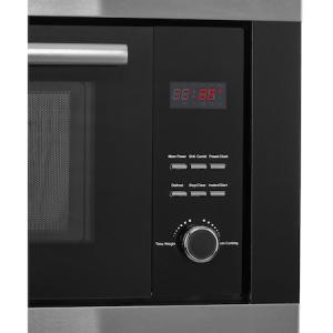 Cuptor cu microunde incorporabil Heinner HMW-23BIXBK, 23 L, 800 W, Grill, Digital, Negru/ Inox7