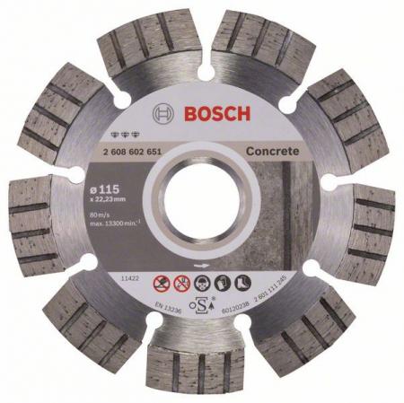 Disc diamantat Best pentru beton 115 x 22.23 x 2.2mm0