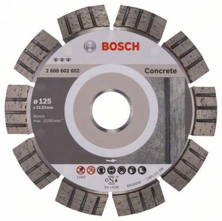Disc diamantat Best pentru beton 125 x 22.23 x 2.2mm0