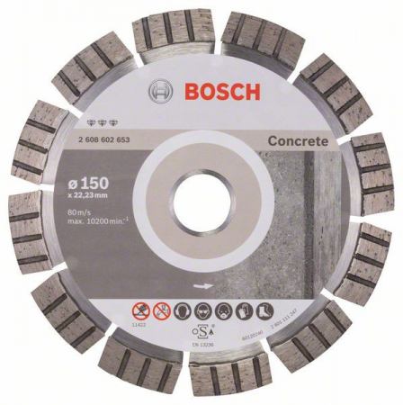 Disc diamantat Best pentru beton 150 x 22.23 x 2.4mm0
