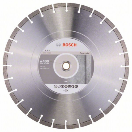 Disc diamantat Best pentru beton 400 x 20.00+25.40 x 3.2mm0
