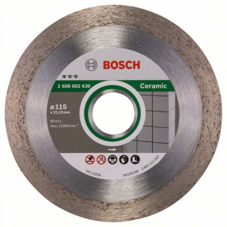 Disc diamantat Best pentru ceramica 115 x 22.23 x 1.8mm2