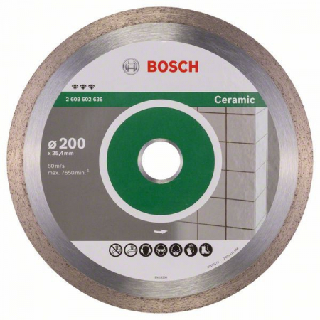 Disc diamantat Best pentru ceramica 200 x 25.40 x 2.2mm1