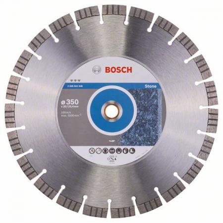 Disc diamantat Best pentru piatra 350 x 20.00+25.40 x 3.2mm0