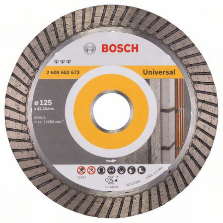 Disc diamantat Best universal Turbo 125 x 22.23 x 2.2mm2