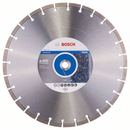 Disc diamantat Standard pentru piatra 400 x 20/25.40 x 3.2mm [1]