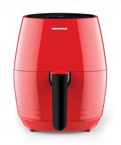Friteuza cu aer cald Heinner Nelle Digital RD HAF-1250DRD, 1250W, capacitate vas 3.2L, capacitate cos 2.5L, control digital, termostat reglabil 80-200˚C, temporizator 30 min, Rosu1