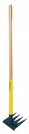 Grapa cu 4 dinti DUOPRO, coada din lemn certificat PEFC 100%0