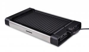 Gratar electric Heinner HEG-F1800, 1800 W, placa detasabila cu invelis anti-adeziv, placa 41 x 26 cm, Negru/Inox0
