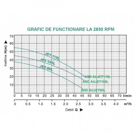 Hidrofor ProGARDEN AUJET100L / 24L 750 W 24 l 3000 l/h inaltime refulare 45 m adancime absorbtie 9 m 4 bar 20 Kg2