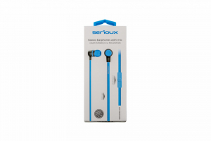 IN-EAR HEADPHONES WITH MIC SERIOUX BLUE0
