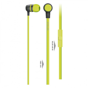 IN-EAR HEADPHONES WITH MIC SERIOUX LIME0
