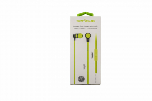 IN-EAR HEADPHONES WITH MIC SERIOUX LIME1