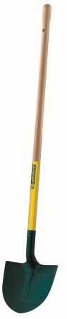 Lopata rotunda din tabla - 27 cm, coada din lemn - 110 cm, certificat PEFC 100%0