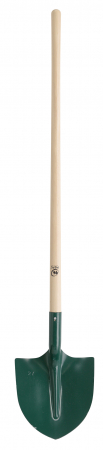 Lopata rotunda din tabla - 29 cm, coada din lemn - 110 cm, certificat PEFC 100%0