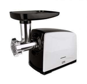 Masina de tocat carne Heinner MG-2100BKWH, 2100 W, accesoriu rosii, Cutit Inox, Negru/Alb1