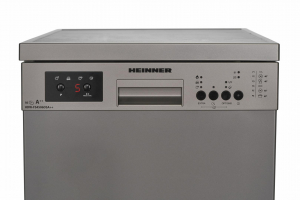 Masina de spalat vase Heinner HDW-FS4506DSA++, 10 seturi, 6 programe, Clasa A++, Control electronic, Display LED, 45 cm, Gri4