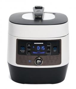 Multicooker cu gatire la presiune Heinner HPCK-6WH, 4.5 L, 14 programe, vas antiadeziv detasabil, Timer, presiune reglabila, display LED, Alb0