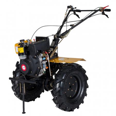 Motocultor 7CP ProGARDEN HS1100AE, 2+1, roti 5.00-12, diesel, pornire electrica2