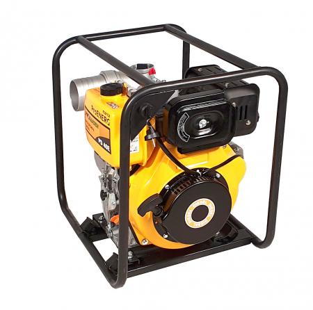 """ProGARDEN PD40E motopompa 4""""/100mm, diesel, apa curata, pornire electrica [1]"""