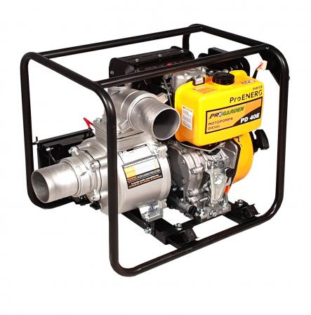 """ProGARDEN PD40E motopompa 4""""/100mm, diesel, apa curata, pornire electrica [0]"""