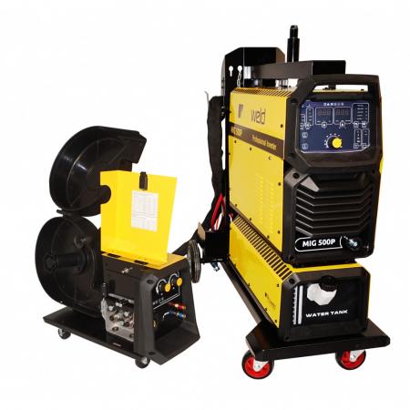 Invertor sudare MIG/MAG profesional ProWELD MIG-500P, racire cu lichid, derulator detasabil, sudura aluminiu0
