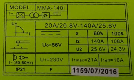 ProWELD MMA-140I invertor sudare2