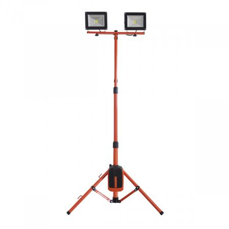 Redback ED40 Stand proiectoare LED acumulatori 40V, 2x20W, solo0