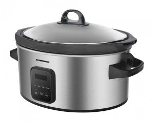 Slow cooker Heinner HSCK-C57IXBK, 220 W, 5.7 L, vas ceramic, display LED, timer si 3 setari temperatura, Inox1