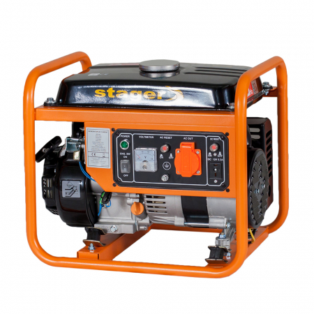 Stager GG 1356 generator open-frame 1kW, monofazat, benzina, pornire la sfoara [1]