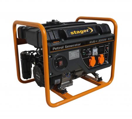 Stager GG 3400 generator open-frame 2.6kW, monofazat, benzina, pornire la sfoara1
