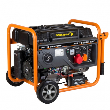 Stager GG 7300-3EW generator open-frame 5.8kW, trifazat, benzina, pornire electrica [0]