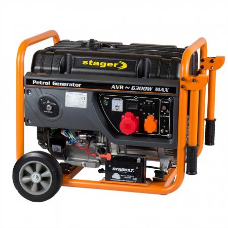 Stager GG 7300-3EW generator open-frame 5.8kW, trifazat, benzina, pornire electrica [2]