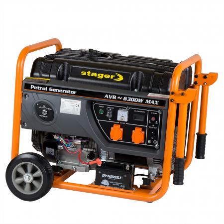 Stager GG 7300EW generator open-frame 5.8kW, monofazat, benzina, pornire electrica1