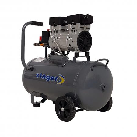 Stager HM0.75JW/50 compresor aer, 50L, 8bar, 165L/min, monofazat, angrenare directa, silentios1