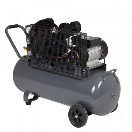 Stager HMV0.25/100 compresor aer, 100L, 8bar, 250L/min, monofazat, angrenare curea1